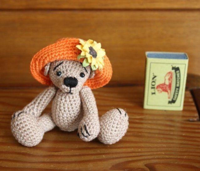 Sunflower  a mini bear of thread SOLD