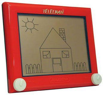 L'écran magique est un jouet inventé en 1959 par le français André Cassagnes. En France, il est distribué à partir de 1960 par la société des Jouets rationnels sous le nom Télécran, puis par la Compagnie Générale du Jouet et enfin par Joustra. Dans le reste du monde, il est produit et commercialisé par la société américaine, l'Ohio Art Company (en) depuis 1960 sous le nom de Etch A Sketch. Télécran