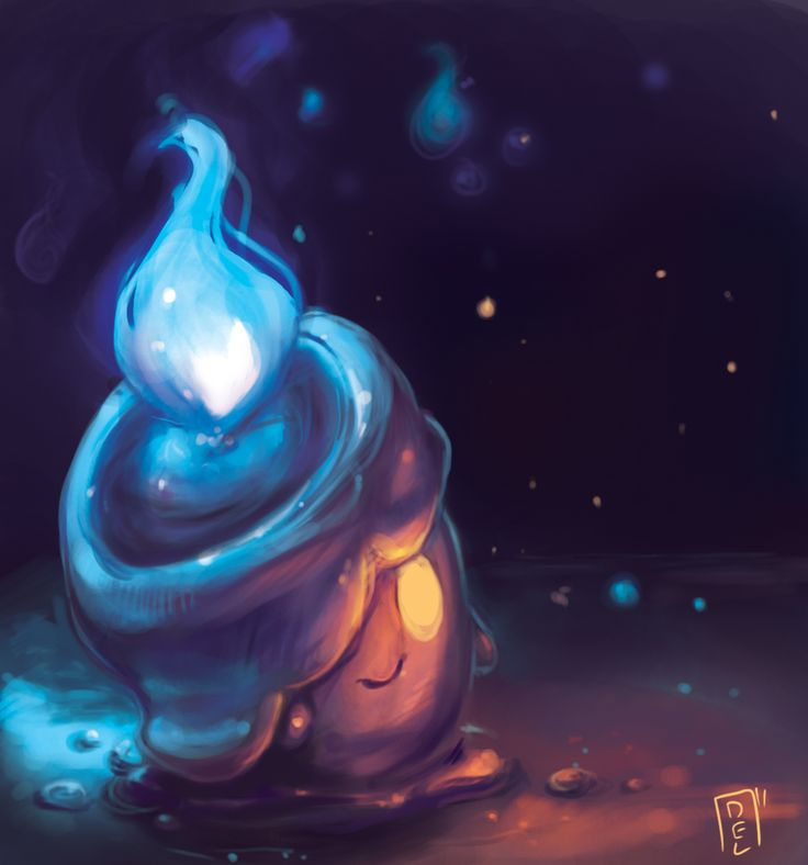 Litwick, the Candle Pokémon. Litwick appear to be helping to guide the way of people by illuminating areas that are darkened, but in reality they are actually leading them to the Ghost World. They feed off the life energy of people and Pokémon, and use it as fuel for the flames on their heads