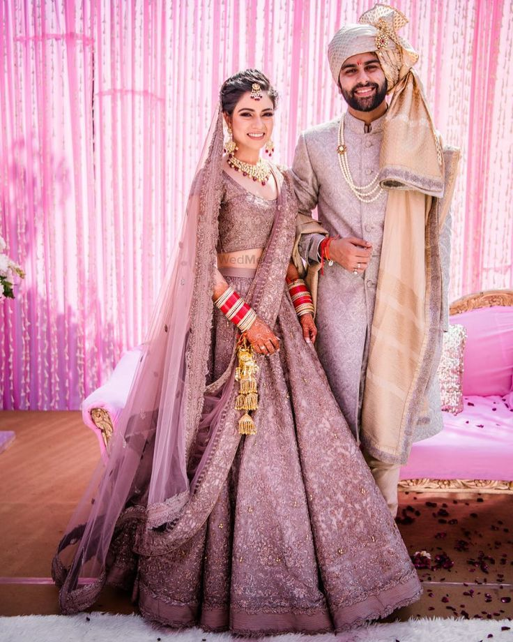 "41.1k Likes, 150 Comments - WedMeGood (@wedmegood) on Instagram: ""Lavender love ! Shot by @snapsoulindia outfit @shantanunikhil . More details from this wedding on…"""