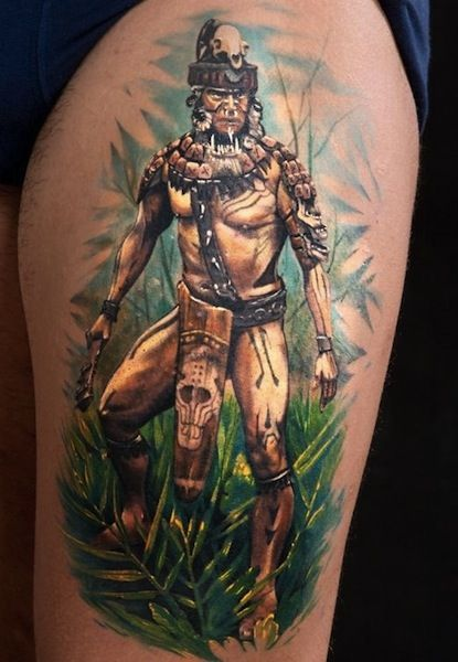 warrior done by Matteo Pasqualin, Porto Viro, Italy   warrior tatoos
