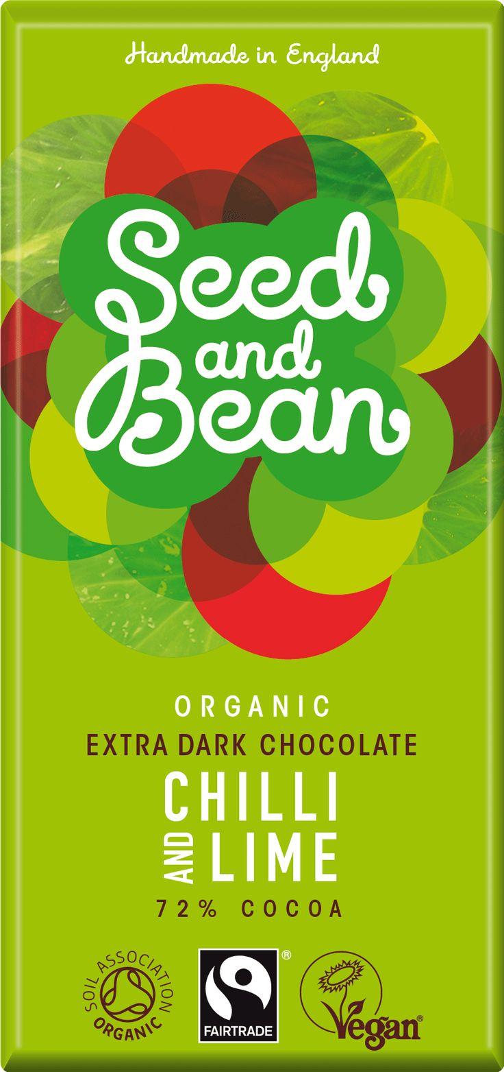 Seed & Bean Pure Chocolade 72% Chilli Lime  Chili en chocolade hebben een oeroude gezamenlijke historie van meer dan 2.000 jaar. Nu samengebracht in een chocolade uit de Dominicaanse republiek. De chilipeper is er één van een medium-sterke chili. Perfect uitgebalanceerd met de nasmaak met tonen van Mexicaanse limoen.  www.bommelsconserven.nl