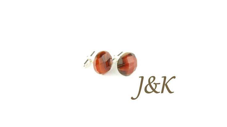 Spinki do mankietów Sardonyks srebrne unikat w J&K Art - wyjątkowe spinki do mankietów na DaWanda.com