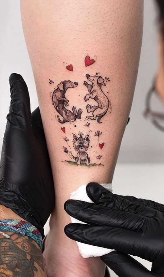 7ba204b1d Cute Little Dogs Tattoo | Animal Tattoos | Dog tattoos, Tattoos ...