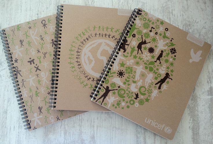 Cuadernos universitarios Proarte, Unicef. 100% Ecológicos.