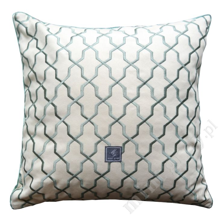 MINT GREY New York Style Interiors | produkty - dodatki; Poduszka GEO MOROCCAN; Pillows; Cushions