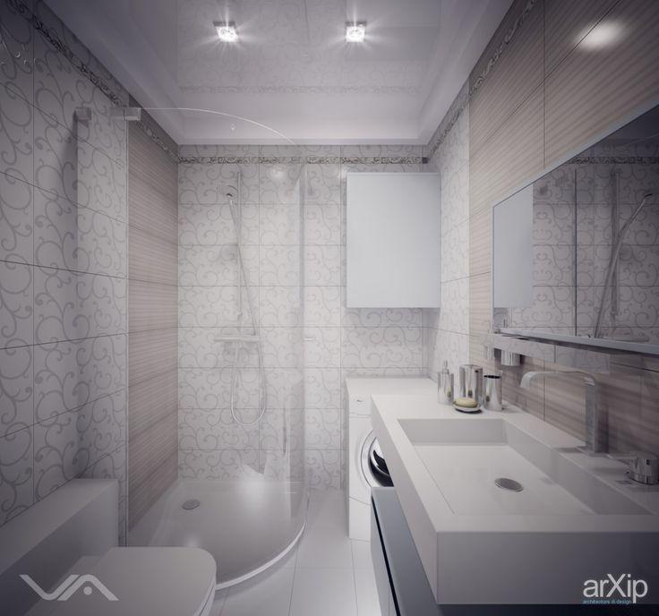 Санузел в белом #interiordesign #интерьер #apartment #house #квартира #дом #wc #bathroom #toilet #санузел #ванная #туалет #modern #современный #модернизм #010m2 #0_10м2