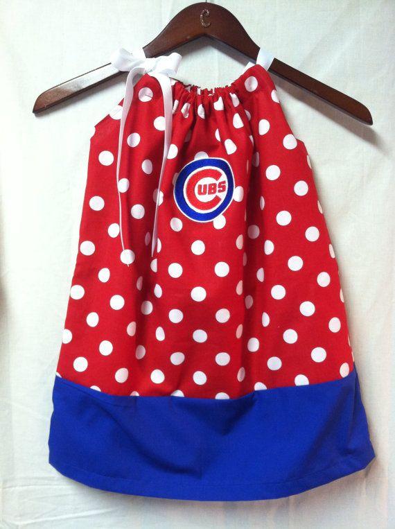 Chicago Cubs pillowcase dress by CarolinasHopeChest on Etsy, $25.00