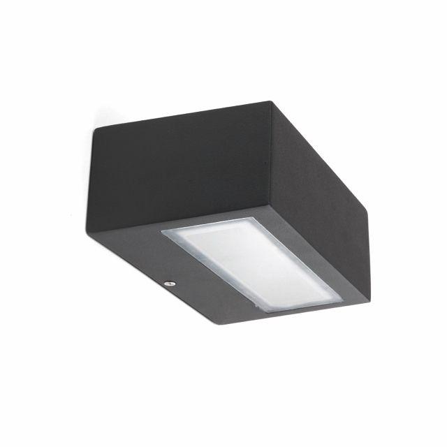 Aplique de exterior hal geno con dos salidas lamparas for Focos iluminacion exterior