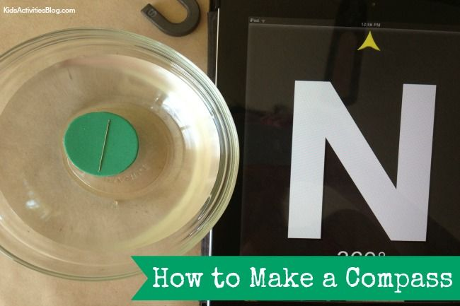 I LOVE this super simple activity it sounds more complicated than it actually is - Make a Compass {Simple Magnetic Compass for Kids}