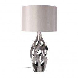 lmpara de mesa moderna cermica plata iluminacin led lamparas de mesa en
