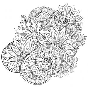 flowers advanced coloring pages 20 - Flowers Coloring Pages
