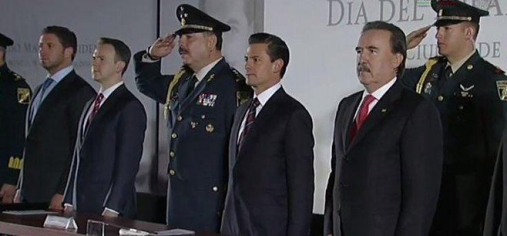 Reconoce el Presidente Enrique Peña Nieto la destacada labor del Estado Mayor Presidencial durante la visita del Papa Francisco a México