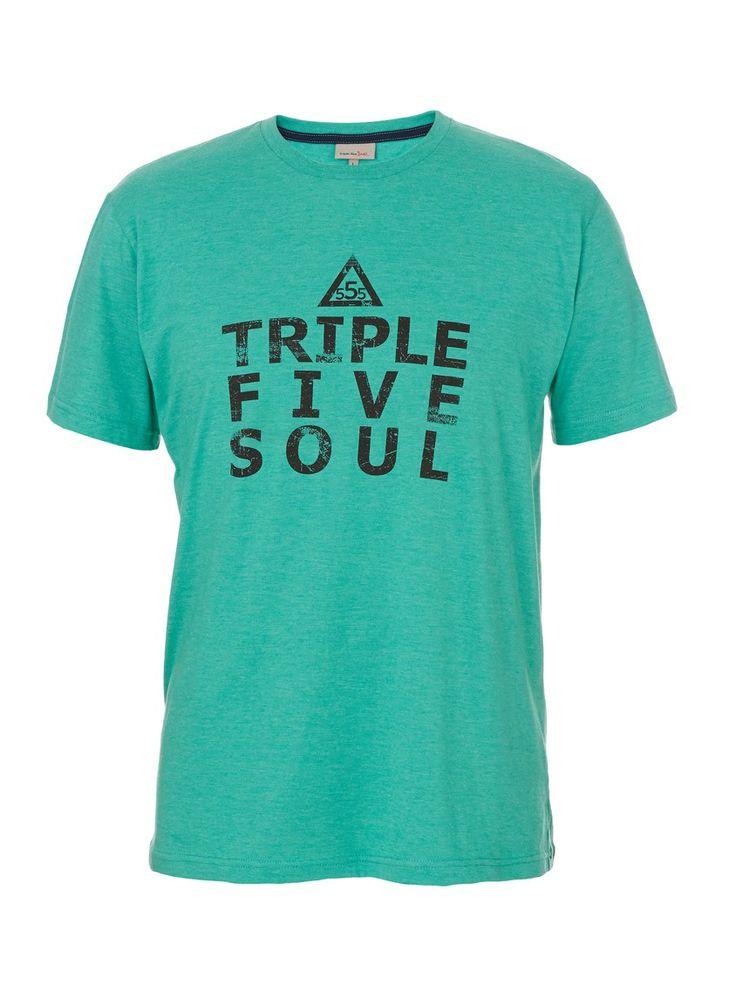 Joel Crew T-shirt Green