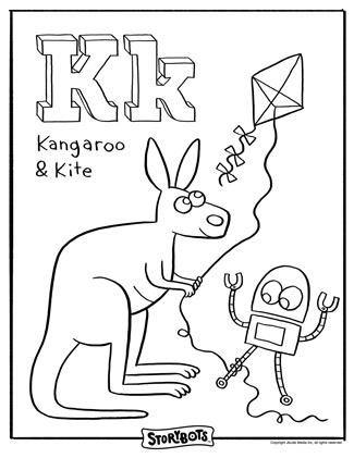 I love these StoryBot free coloring pages! ~ K is the KEY