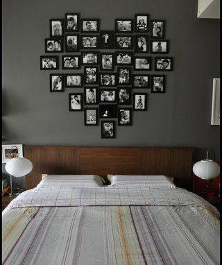 Foto testata a letto a forma di cuore
