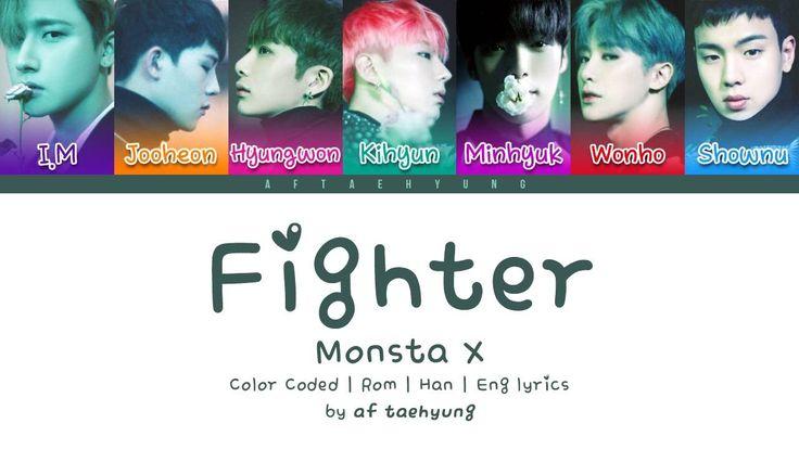 Monsta X - Fighter (Color Coded Lyrics/Eng/Rom/Han)