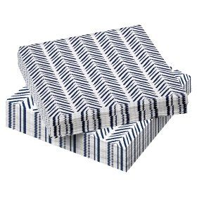 George Home Blue Chevron Napkins