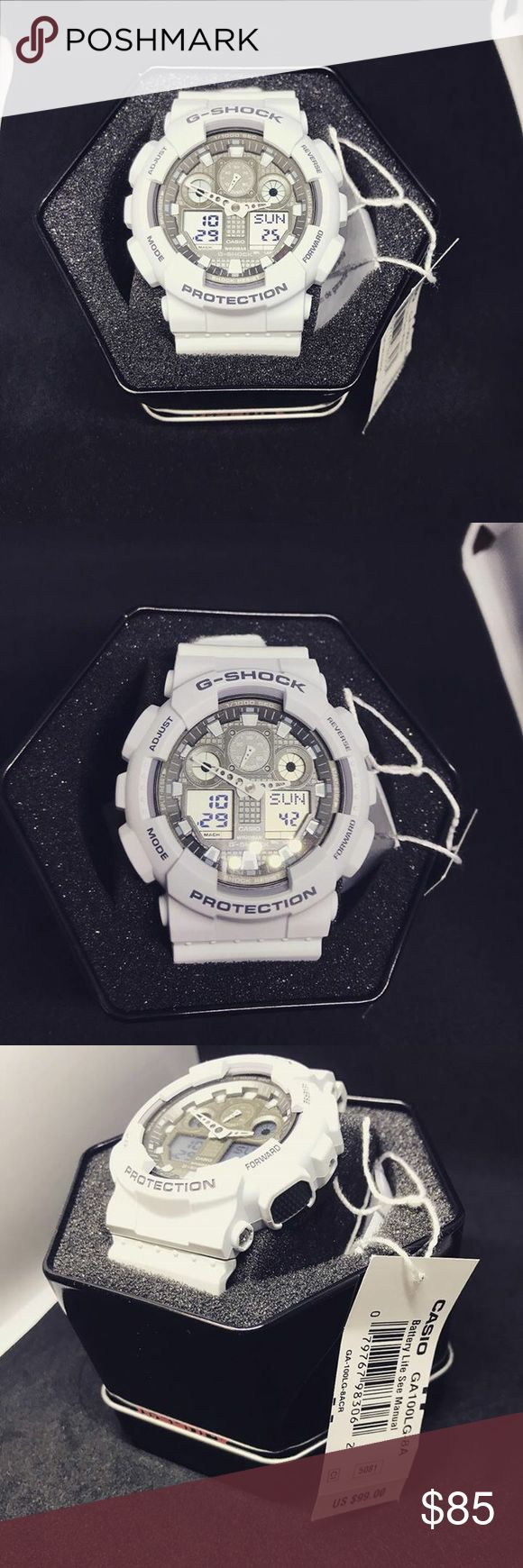 White G-Shock Watch Brand new, white g-shock!  Water proof and shatter proof!  Great for every day wear or for outdoor adventures Original box included Accessories Watches