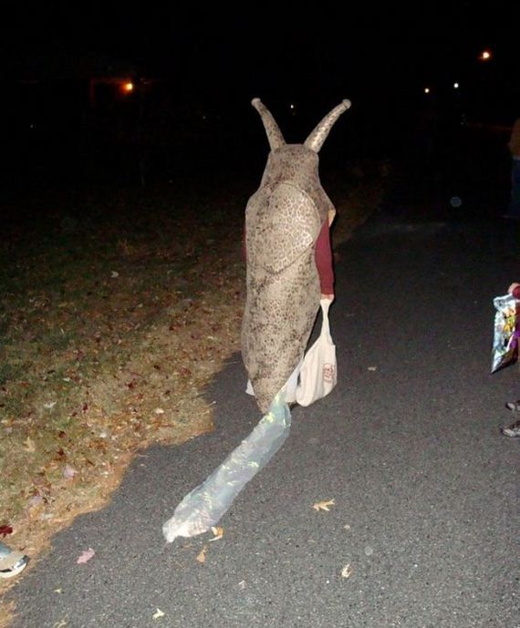 OMG!! I can't stop laughing!! what a great idea!!! slug costume
