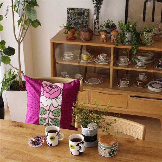 sisko_tomokaさんの、棚,ナチュラル,IKEA,雑貨,カフェ風,北欧,unico,marimekko,北欧インテリア,ウニコ,北欧ヴィンテージ食器,のお部屋写真