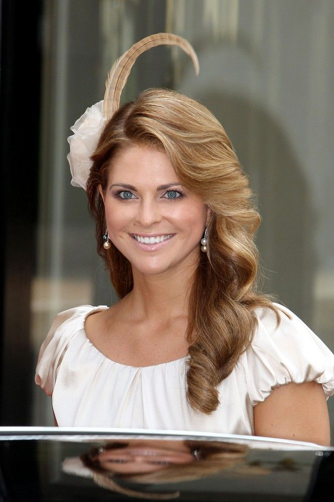 Princess Madeleine, July 2, 2011 - arriving for the wedding of Prince Albert and Charlene of Monaco