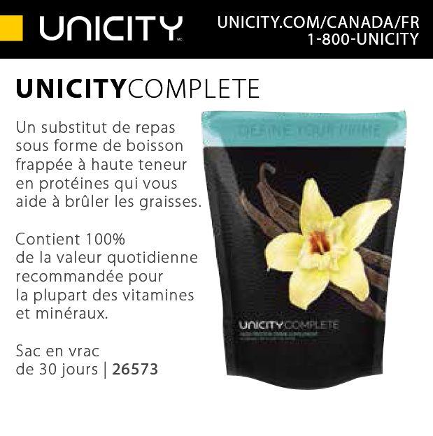 Le UNICITY COMPLETE fournit à votre corps le carburant dont vous avez besoin durant une journée. De plus, lorsqu'il est pris le matin, il contribue à relancer votre métabolisme, ce qui vous aide à réaliser vos aspirations.  https://shop.unicity.com/core-products?ref=96964802 premiumedik@gmail.com 514-705-8612