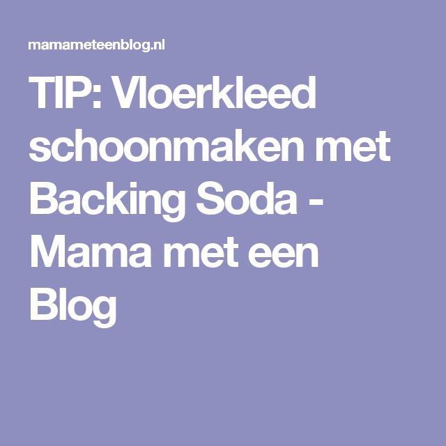 TIP: Vloerkleed schoonmaken met Backing Soda - Mama met een Blog