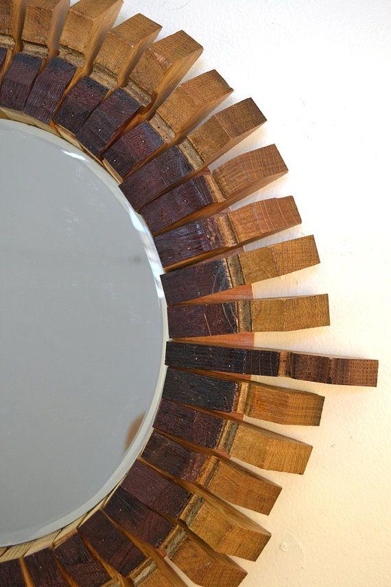 MIRROR Bussola Wine Barrel Stave Mirror by ...