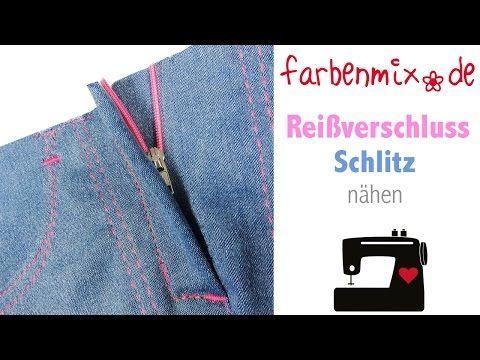 Videotutorial Reißverschluss mit Schlitz nähen » Reißverschluss, Sabine, Videotutorial, Video, Schritt, Schlitz » Farbenmix