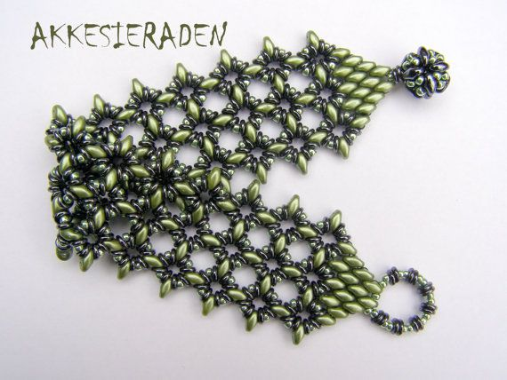 Tutorial O-Lace bracelet, A bracelet with O beads and Super duo beads