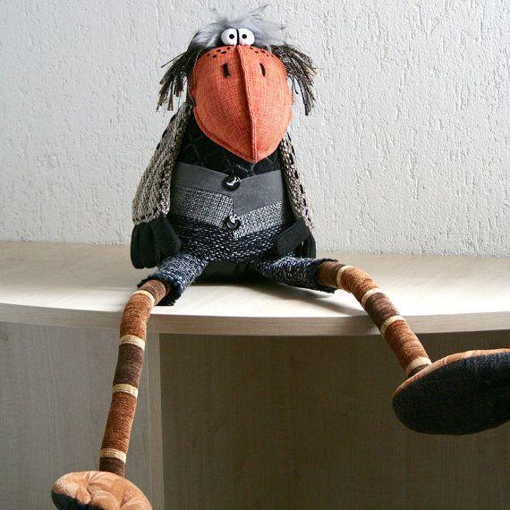 Charming Crow 33 inch by manartas on Etsy