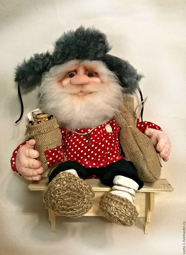 Купить домовой - ярко-красный, домовой, оберег для дома, семейный очаг, интерьерная кукла