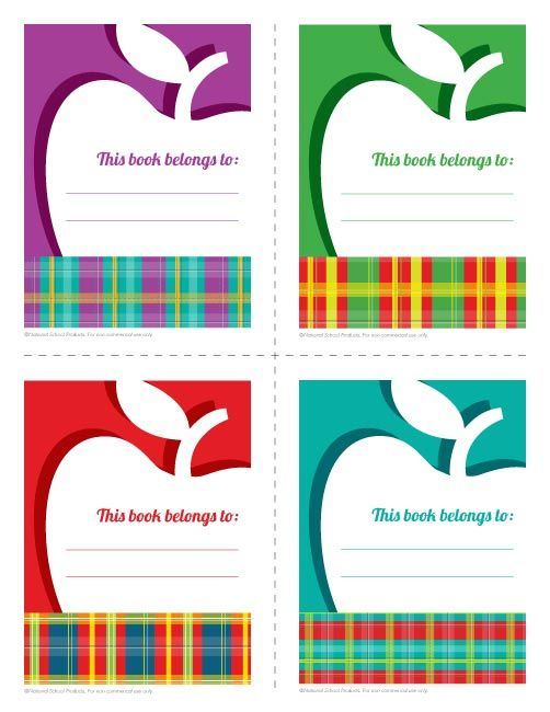16 best images about free teacher printables on pinterest for Free printable bookplates templates