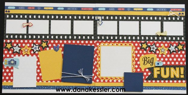 Two Page Scrapbook Layout Page Kit Magical Summer Fun #ctmhmagical…