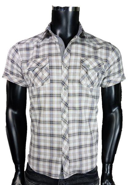 Koszula męska w kratka - - Koszule męskie - Awii, Odzież męska, Ubrania męskie, Dla mężczyzn, Sklep internetowy