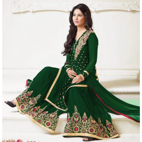 Shop online for BMR Superb Green Georgette Embroidered Work Designer Suit in India at Kraftly.com, Shop from BMR e-trade, BMSUGR21772QTK133794, Easy Returns. Pan India. Affordable Prices. Shipping. Cash on Delivery.