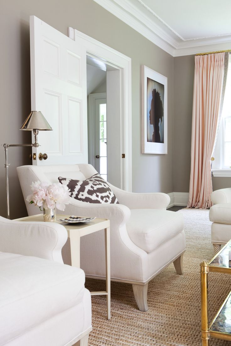 An Elegant Toronto Retreat. Pink CurtainsCurtains With Grey WallsGray Living  ... Part 75