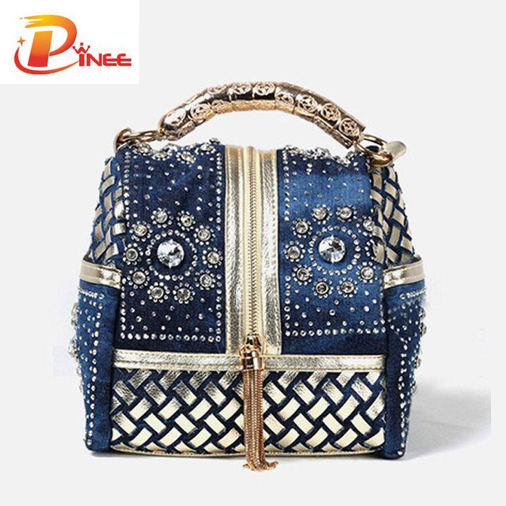 Women Handbag Famous Brand Rhinestone Totes Shoulder Bag Luxury Bags //Price: $47.98 & FREE Shipping //     #womenbags