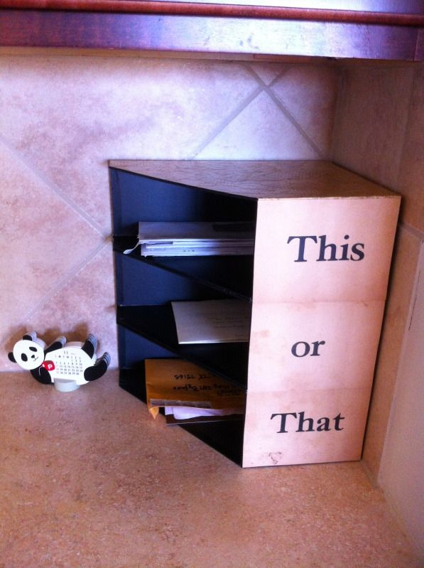 DIY Mail Sorter from magazine holders!