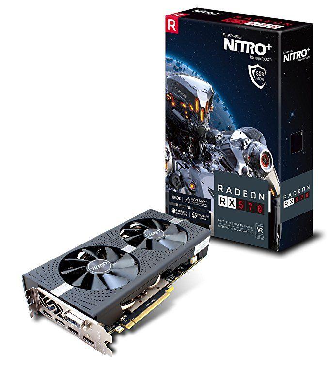 Sapphire 11266 09 20g Radeon Nitro Rx 570 8gb Gddr5 Dual Hdmi Dvi D Dual Dp With Backplate Uefi Pci E Graphics Card Review Graphic Card Video Card Nitro