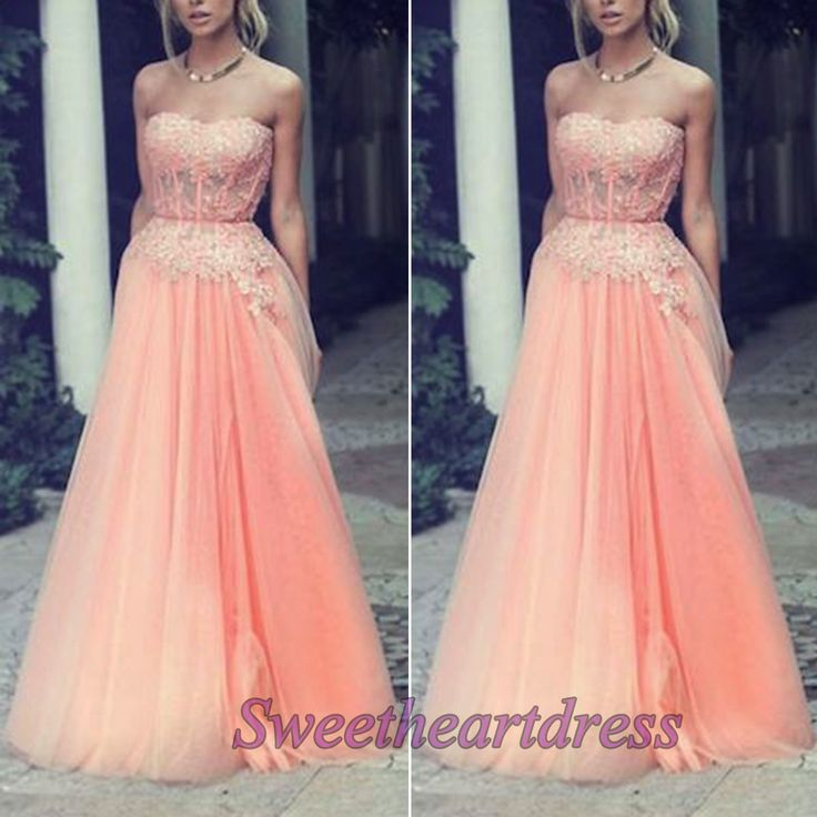 Pink tulle prom dress for teens, sweetheart neckline bridesmaid dress, lace occasion dress for season 2015 -> sweetheartdress.s... #coniefox #2016prom