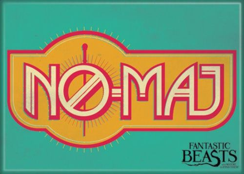 Fantastic-Beasts-Movie-NO-MAJ-Logo-Refrigerator-Magnet-Harry-Potter-NEW-UNUSED