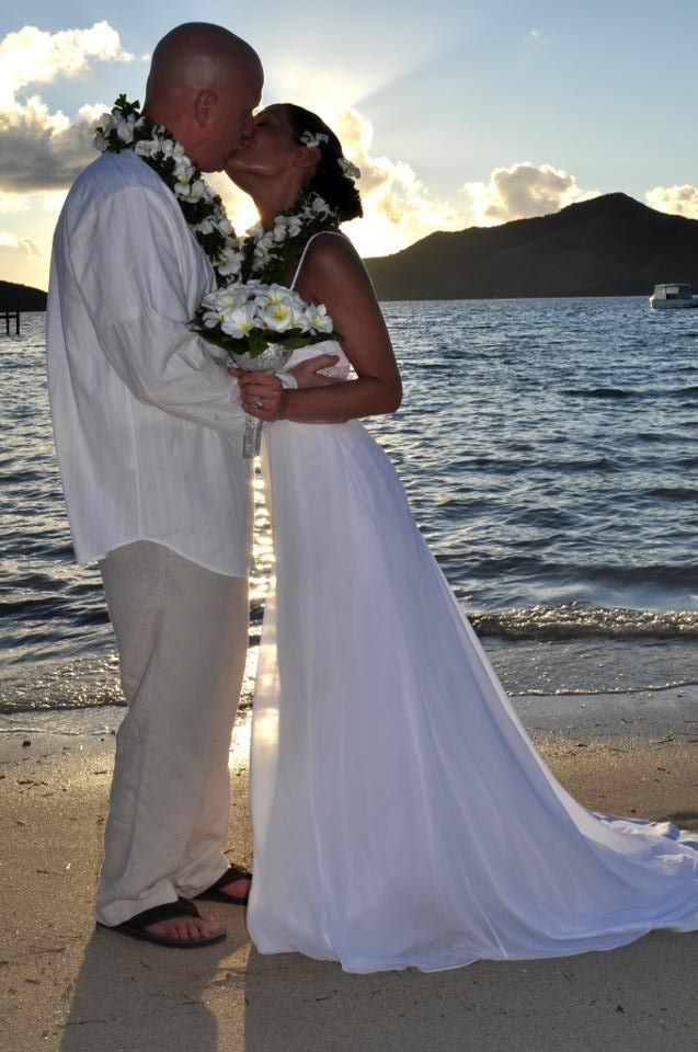 Beautiful Just Married At Turtle Island