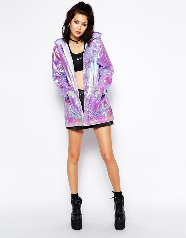 Holographic raincoat/jacket suggested by Naomi Katherine on MTB22