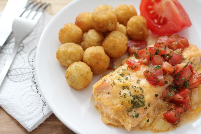 BAKED SALMON WITHMUSTARD