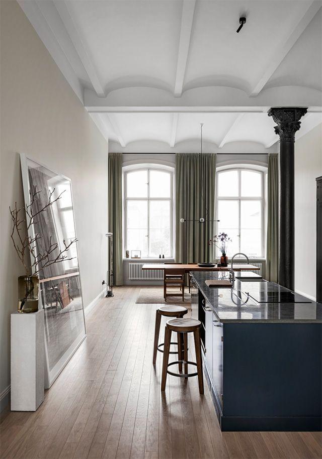 The Home of Swedish Architect Andreas Martin-Löf interiors
