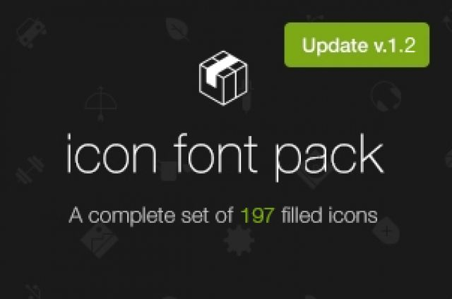 A custom @font-face icon font with scalable vector icons. This is a complete set of 197 filled icons inspired by iOS...