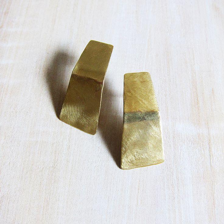 Stella earrings - brass
