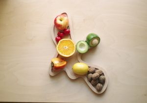 Fruit Plate -  serving fruit, bread or cheeses